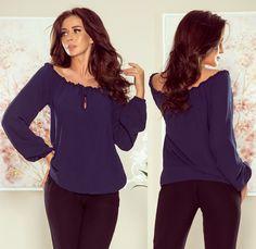 Ing, Ruffle Blouse, Long Sleeve, Sleeves, Tops, Women, Fashion, Moda, Long Dress Patterns