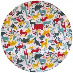 Cosmo Textiles, Safari Animals Retro