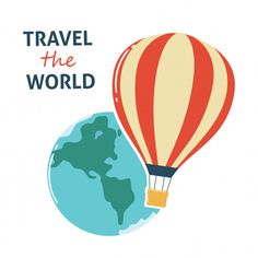 World, Sports, Travel, Hot Air Balloon, Vector Graphics, Authors, Traveling, Hs Sports, Viajes