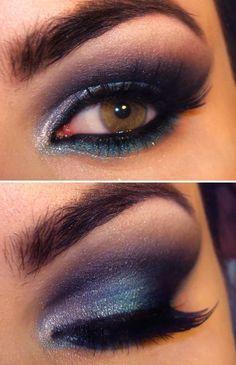 Dark Purple Glamorous Eye Makeup Ideas for Dramatic Look, So Creative
