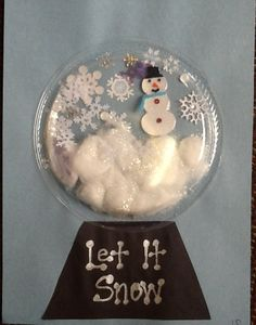 If i lived in a snowglobe...Writing prompt and craft, put their picture in! Or it could be an observation writing