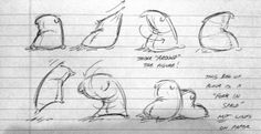 drawings of a flour sack for animation
