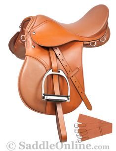 Sale Clearance English All Purpose Tan Saddle Set 16 18- Western Horse Saddles - Saddle Online