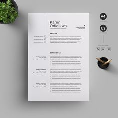 Resume/CV by Reuix Studio on Creative Market ---CLICK IMAGE FOR MORE--- resume how to write a resume resume tips resume examples for student Resume Layout, Resume Tips, Resume Cv, Resume Writing, Resume Design Template, Cv Template, Resume Templates, Design Templates, Cv Consultant
