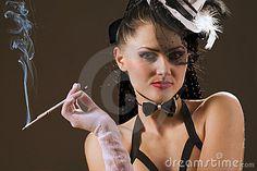 beautiful femme cigarette holder - Google Search