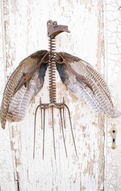 Repurposed metal sculpture Grim Reaper by by grinningjupiter, $375.00
