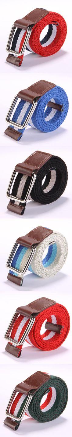 Plait Unisex Canvas Belt Designer Of High Quality Waist Straps For Men And Women Striped Fashion Male Female Belt For Jeans