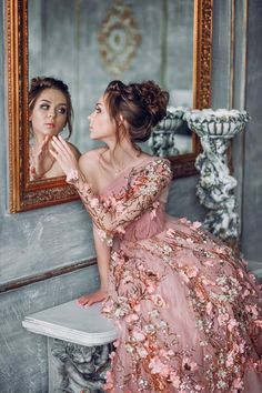 36 Ultra-Pretty Floral Wedding Dresses For Brides, You can collect images you discovered organize them, add your own ideas to your collections and share with other people. Evening Dresses, Prom Dresses, Before Wedding, Fantasy Dress, Beautiful Gowns, The Dress, Dream Dress, Pretty Dresses, Designer Dresses