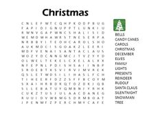 free christmas activities and games kids word find puzzle game - Holiday Printable Puzzles