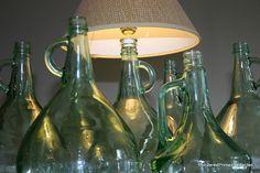 Great reuse of wine bottles!