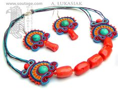 Palenque  Hand-embroidered with sutache and natural by SoutageAnka