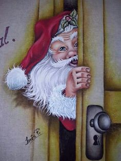 Christmas Rock, Father Christmas, Christmas Snowman, Christmas Projects, Vintage Christmas, Christmas Holidays, Christmas Decorations, Christmas Ornaments, Santa Paintings