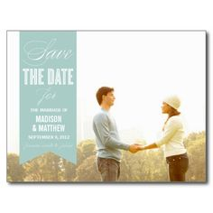 VINTAGE BANNER | SAVE THE DATE ANNOUNCEMENT POSTCARDS
