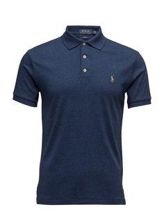 4e66e51b5efba3 polo ralph lauren slim fit soft-touch polo monroe blue heather men tops  shirts short-sleeved,polo ralph lauren outlet,New Arrival, ralph lauren  swim where ...