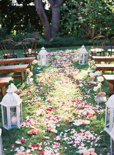 Spring Wedding Aisle