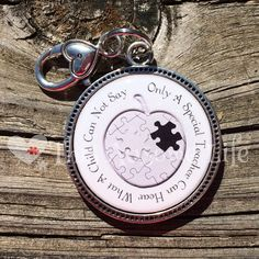 A personal favorite from my Etsy shop https://www.etsy.com/listing/223983621/autism-awareness-keychain-for