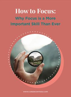 In this increasingly distraction-filled world, focus is a more important skill than ever before. Here's our best advice on getting focused to harness serious productivity. Focus At Work, Cv Tips, How To Focus Better, Finding A New Job, Interview Skills, Best Careers, Career Development, Management Tips, Career Advice