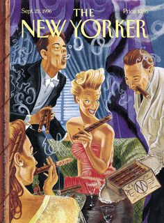 "The New Yorker - Monday, September 23, 1996 - Issue # 3722 - Vol. 72 - N° 28 - Cover ""Social Lights"" by M. Scott Miller"