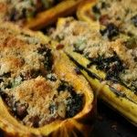 Kale and Sausage Stuffed Delicata Squash Recipe