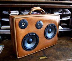 Suitcase boombox