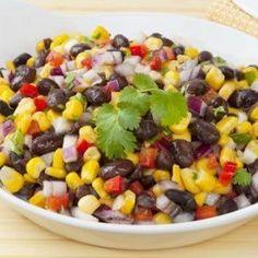 Southwestern veggies and black beans make a refreshing but satisfying salad.