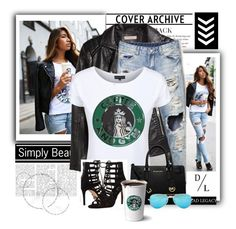 """""""Dead Legacy: Coffee & Gym: Seoul Sisters Blog"""" by dead-legacy ❤ liked on Polyvore featuring H&M, Dead Legacy, Michael Kors, MICHAEL Michael Kors and Ray-Ban"""