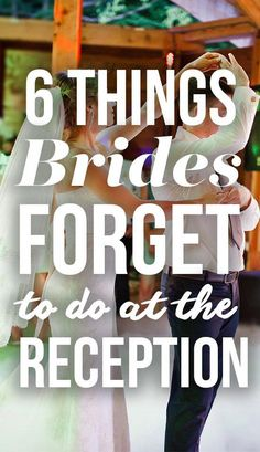 Your big day will fly by so fast. Find out the 6 important things you won't want to forget at your wedding reception, SHEfinds. Wedding Day Tips, Wedding Advice, Budget Wedding, On Your Wedding Day, Perfect Wedding, Dream Wedding, Wedding Ideas, Wedding Stuff, Wedding Trivia