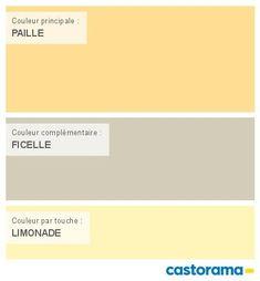 Castorama nuancier peinture mon harmonie peinture calcaire mat de colours collection atelier - Couleur jaune paille ...