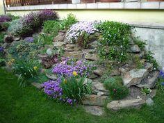 """Képtalálat a következőre: """"meredek sziklakert"""" Stepping Stones, Backyard, Outdoor Decor, Plants, Beauty, Gardening, Home, Stair Risers, Patio"""
