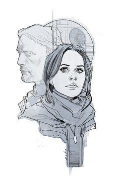 Phil Noto - Rogue One illustration