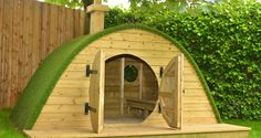 The Hobbit House at Asquith Nurseries. All timber used in our gardens is sourced from a renewable source to FSC/PESC certification standards.