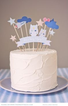 free printables baby shower birthday wedding cake toppers 0011 Let them eat cake! {DIY Cake Toppers}