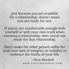 Telling the truth about who you are is the first step to a happy successful lasting marriage.