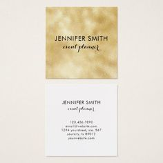 Gold Faux Shimmer Lights Elegant Professional Square Business Card - makeup artist gifts style stylish unique custom stylist