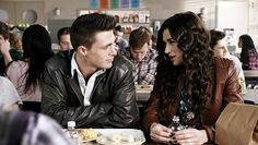 Jackson and Allison in the lunchroom