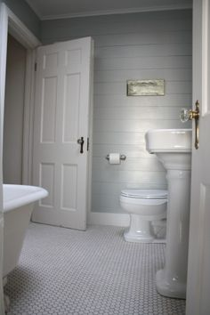 Ship Lap: I'm doing this to our powder room downstairs. Can't wait!