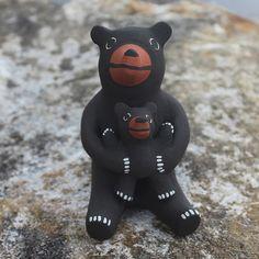 Jemez Pueblo Pottery Bear Storyteller by Alma Concha