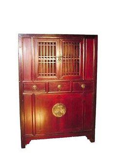 Antique Chinese Kitchen Cabinet (9866), Circa 1800-1849