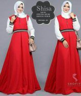 Shisa dress red
