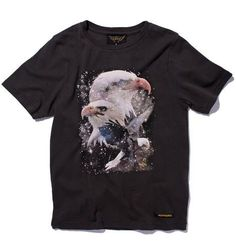 Dalton Cosmic Eagle T-shirt in Black Shadow from Finger in the Nose at Kidsen
