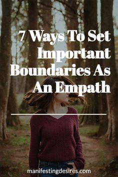 It's super important for Empaths and Highly Sensitive People to set boundaries for the sake of their mental, emotional, and spiritual health. Find out 7 ways you can set important boundaries to keep your mind, your body, and your energy grounded and balanced. Read More! Includes a FREE Meditation. Spiritual Manifestation, Spiritual Health, Mental Health, Highly Sensitive Person, Sensitive People, Create Your Own Reality, Emotionally Exhausted, Free Meditation, Learning To Say No