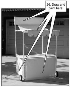 How to make collapsible, storable food stands