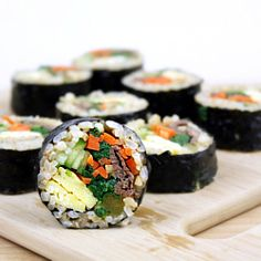 Bulgogi and Vegetable Gimbap:  It's one of the most popular Korean casual foods.  It's naturally gluten-free, dairy-free, and so delicious!