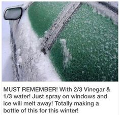 Getting Ice off a windshield …