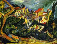 Landscape with Cypresses, 1922 / Chaim Soutine