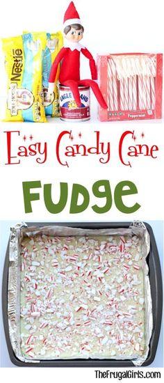 Candy Cane Fudge Recipe from TheFrugalGirls.com