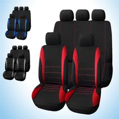 1 X CLIP 10+ OXFORD LUXURY FULL SEAT COVER SET RED CHEVROLET SPARK