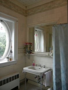 Holy heavens, this bathroom is beautiful.   Laura's Sunny Studio — Small Cool Contest | Apartment Therapy