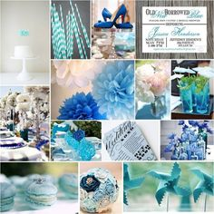 pretty parties something blue bridal shower