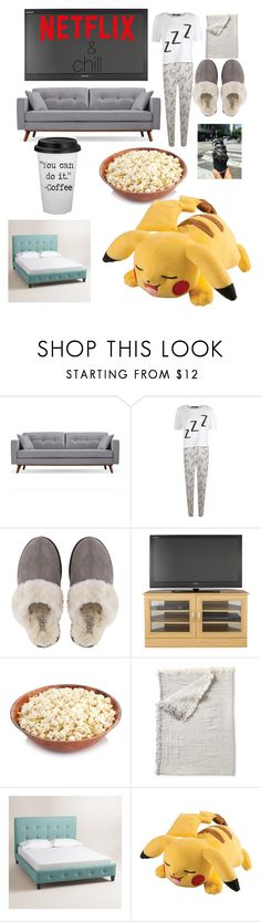 """""""staying at home"""" by struttonriley ❤ liked on Polyvore featuring Boohoo, UGG, Serena & Lily and Cost Plus World Market"""